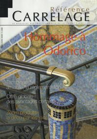 Carrelage 20 x 20 Variations - Baya - Lave émaillée - Vasque - Revue de Presse - Référence Carrelage Mai 2009