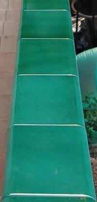 Main courante escalier en lave émaillée