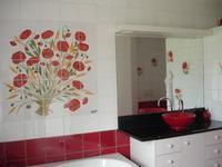 Carrelage - Tableau - Fresque murale - Panneau de décoration - Artisanat de Provence à Salernes
