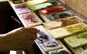Carrelage décoré - Design - Décoration - Frise - Fresque - Tableau - Motif - Artisanat de Provence à Salernes