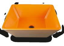 Carrelage - Décoration - Cuve carrée à poser 41x41- Cuisine - Salle de Bains - Faïence de Provence à Salernes