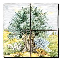 Carrelage - Décoration - Pâturages - Fresque - Tableau - Faïence de Provence à Salernes