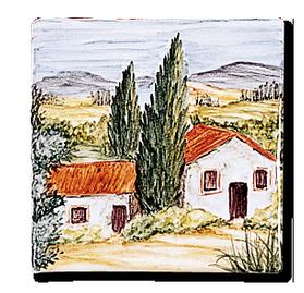 Carrelage - Décoration - Pâturages - Motif - Design - Faïence de Provence à Salernes