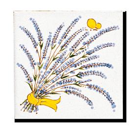 Carrelage - Décoration - Genêt et  Lavande - Cuisine - Salle de Bains - Faïence de Provence à Salernes