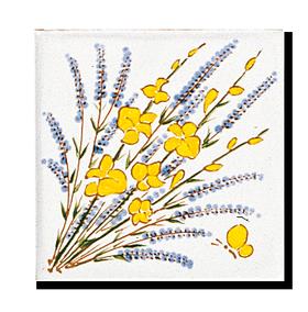Carrelage - Décoration - Décor 11 Genet et Laavnde-Cuisine - Salle de Bains - Faïence de Provence à Salernes