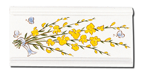 Carrelage - Décoration - Frise 11x22 Genêt - Cuisine - Salle de Bains - Faïence de Provence à Salernes