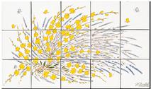 Carrelage - Décoration - Genêt et Lavande- Fresque - Tableau - Faïence de Provence à Salernes