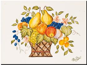Carrelage - Décoration - Panier Gourmand - Fresque - Tableau - Faïence de Provence à Salernes