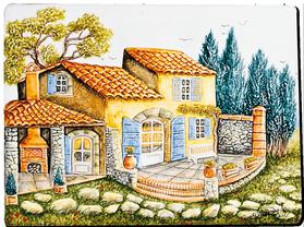 Carrelage - Décoration - La Bastide - Fresque - Tableau - Faïence de Provence à Salernes