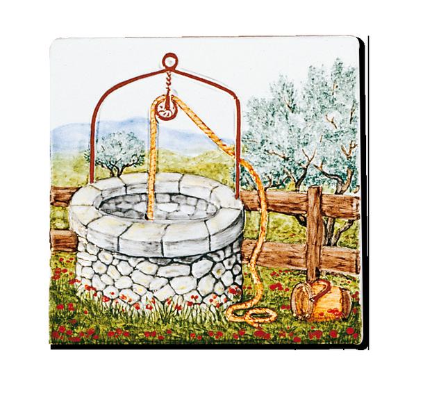 Carrelage d coration le puits fresque tableau for Fresque murale cuisine