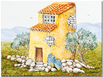 Carrelage - Décoration - Le Pigeonnier - Fresque - Tableau - Faïence de Provence à Salernes