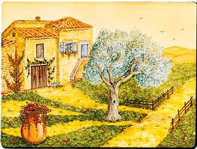 Carrelage - Décoration - Le Mas Provençal - Fresque - Tableau - Faïence de Provence à Salernes