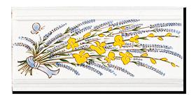 Carrelage - Décoration - Frise 11x22 Genêt Lavande- Fresque - Tableau - Faïence de Provence à Salernes