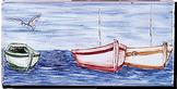 Carrelage - Décoration - Frise 11 x 22 Pêcheur - Motif - Design - Faïence de Provence à Salernes