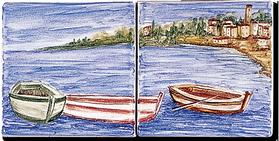 Carrelage - Décoration - Décor 11x11 Pêcheur - Motif - Design - Faïence de Provence à Salernes