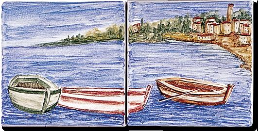 Carrelage d coration d cor 11x11 p cheur motif for Carreaux faience 11x11