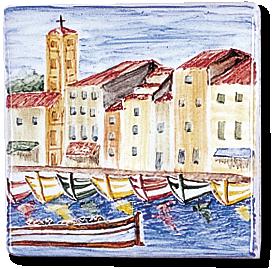 Carrelage - Décoration - décor 11  Pêcheur - Design - Faïence de Provence à Salernes