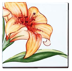 Carrelage - Décoration - Flore - Lys - Motif - Design - Faïence de Provence