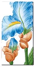 Carrelage - Décoration - Flore - Iris - Motif - Design - Faïence de Provence