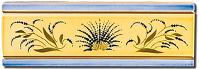Carrelage - Décoration - Frise 7,5 x 22 Champ de Lavande - Motif - Design - Faïence de Provence à Salernes