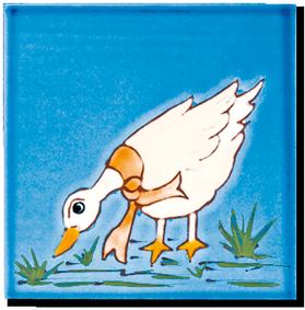Carrelage - Décoration - Décor 13 Oie - Motif - Design - Faïence de Provence à Salernes