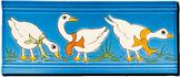 Carrelage - Décoration - Frise 11 x 26 Oies- Motif - Design - Faïence de Provence à Salernes