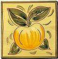 Carrelage - Décoration - Fruits façon Antique Pomme- Motif - Design - Faïence de Provence à Salernes
