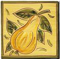 Carrelage - Décoration - Fruits façon Antique - Poire -Design - Faïence de Provence à Salernes