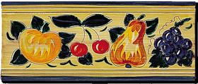 Carrelage - Décoration - Frise 11 x 26 Fruits Antique - Motif - Design - Faïence de Provence à Salernes