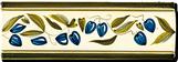 Carrelage - Décoration - Frise 7.5 x 22 Olive- Motif - Design - Faïence de Provence à Salernes