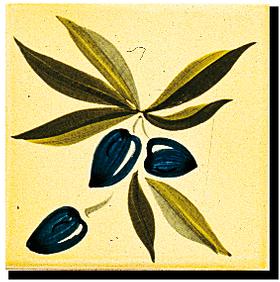 Carrelage - Décoration - Olive A- Motif - Design - Faïence de Provence à Salernes