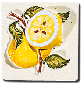 Carrelage - Décoration - Cocktail de Fruits- Motif - Design - Faïence de Provence à Salernes