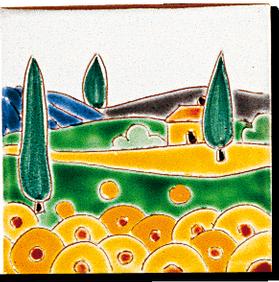 Carrelage - Décoration -Naïfs- Motif - Design - Faïence de Provence à Salernes