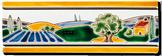 Carrelage - Décoration - Frise 7.5 x 22  Naïf- Motif - Design - Faïence de Provence à Salernes