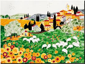 Carrelage - Décoration - Naïfs- Fresque - Tableau - Faïence de Provence à Salernes