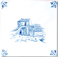 Carrelage - Delft Provençal - Paysages - Décoration - Motif - Design - Faïence de Provence à Salernes