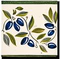 Carrelage - Décoration - Frise Senteurs de Provence Olive- Motif - Design - Faïence de Provence à Salernes