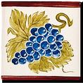 Carrelage - Décoration - Frise Senteurs de Provence Raisin- Motif - Design - Faïence de Provence à Salernes