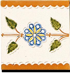 Carrelage - Décoration - Frise Chêne - Motif - Design - Faïence de Provence à Salernes