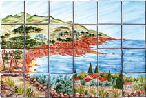 Estérel - Carrelage - Décoration - Fresque - Tableau - Faïence de Provence à Salernes