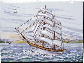 Carrelage - Décoration - La Marine- Fresque - Tableau - Faïence de Provence à Salernes