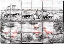 Manade - Carrelage - Décoration - Fresque - Tableau - Faïence de Provence à Salernes