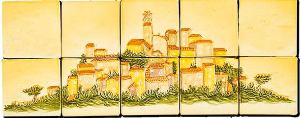 Le Village de Tourtour - Carrelage - Décoration - Fresque - Tableau - Faïence de Provence à ...