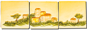 Le Village de Tourtour - Carrelage - Décoration - Fresque - Tableau - Faïence de Provence à Salernes