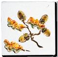 Carrelage - Décoration - Décor Feuille de Chêne- Motif - Design - Faïence de Provence à Salernes