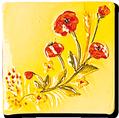 Carrelage - Décoration - Coquelicot - Motif - Design - Faïence de Provence à Salernes