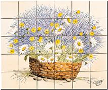 Carrelage - Décoration - Panier Champêtre- Tableau - Faïence de Provence à Salernes