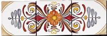 Carrelage - Douce France Médaillon - Fresque - Tableau - Faïence de Provence à Salernes