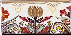 Carrelage - Décoration - Frise 11 x 22 Douce France - Motif - Design - Faïence de Provence à Salernes