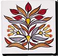 Carrelage - Décoration - Décor 11x11 Papyrus - Design - Faïence de Provence à Salernes